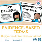 Evidence Based Terms! CCSS: Guided Reading, Literature Cir