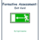 Exit Card Formative Assessment Template