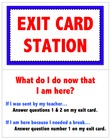 Exit Card Station - Classroom Management