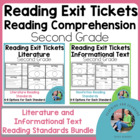Bundled Exit Slips for All Second Grade Common Core Readin