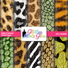 Exotic Animal Print Pattern Digital Scrapbook Paper - Safa