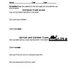 Expansion of Trade Europe Asia Africa Silk Road Worksheet