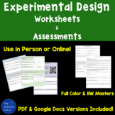 Experimental Design, Scientific Method Assessments Worksheets