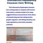 Explanatory Common Core Writing for 4th and 5th Grade Students