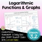 Exponential & Logarithmic Functions Lesson 3: Logarithmic