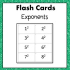 Exponents (2, 3, & 4) Flash Cards or Task Cards 6.EE.1