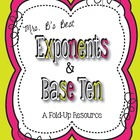 Exponents and Base Ten Fold-Up