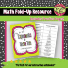 Exponents and Base Ten Fold-Up and Practice Pages