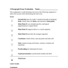 Expository Writing: 5-Paragraph Essay Materials (Four documents)