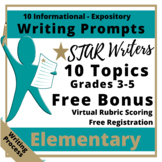 Expository Writing Prompts Grade 3-5 STAAR and CC aligned