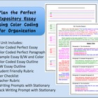 Expository Writing Unit with Best Selling Color Coded Orga