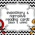 Expository and Narrative Question Cards (Black and White Chevron)