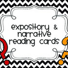 Expository and Narrative Question Cards (Chevron Color)