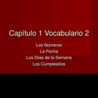 Expresate Spanish Level 1 Chapter 1.2 Vocabulary Powerpoin