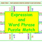 Expression and Word Phrase Puzzle Match