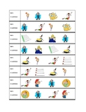 Expressions with avoir / avere / tener Twins speaking activity