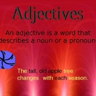 Eye-catching and engaging PPT presentation of adjectives