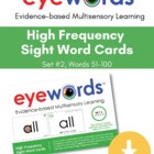 Eyewords Multisensory Sight Words 51-100 Flashcards/Wordwa
