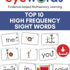 Eyewords Multisensory Top 10 Sight Word Flashcards/Wordwall Cards