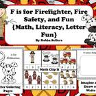 F is for Firefighter and Fire Safety: {Math Literacy and F