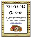 FALL GAMES (5 Open Ended Games)
