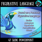 FIGURATIVE LANGUAGE - Pretty as a Peacock - PPTX, Notes, a