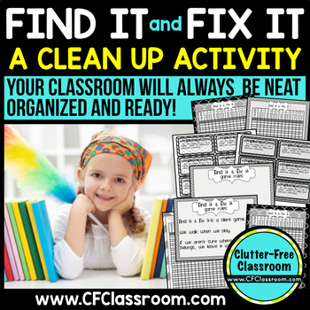 FIND IT & FIX IT: CLASSROOM MANAGEMENT GAME {BLACKLINE DES