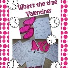 What Time Is It, Valentine? Telling Time Activites - Elaps