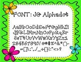 {FONT} JG Alphadot {Free for Personal/Commercial Use}