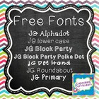{FONT} JG Block Party PolkaDot {Free for Personal/Commercial Use}