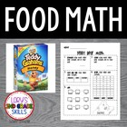 FOOD MATH - Teddy Bear Math