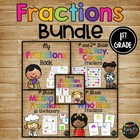 FRACTIONS SET with Book, Games, Whole Group & Center Activities