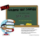 FREE 2013-2014 School Year Organizational Calendar MS Word Format