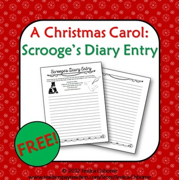 A Christmas Carol: Scrooge's Diary Entry Writing Assignmen