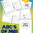 FREE ABC's of Me Booklet