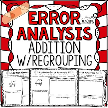 FREE Addition Regrouping Error Analysis  { Center, Enrichm