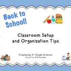 FREE Back to School Classroom Setup/Organization Tips