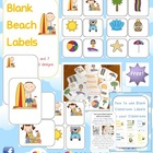 FREE Beach Themed Blank Classroom Labels Set - 48 pages