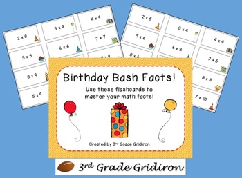 FREE Birthday Bash Facts (Multiplication)