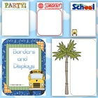 Blank Borders and Displays Classroom Organization Resource