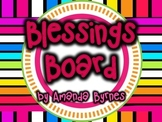 FREE Blessings Board Bright (Classroom Display)