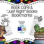 FREE Book Care/ Just Right Books bookmark