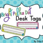 FREE Bright Polka Dot Desk Tags