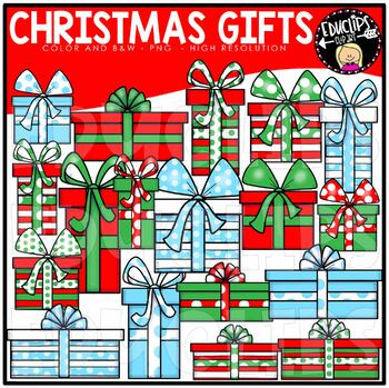 FREE Christmas Gifts Clip Art Bundle