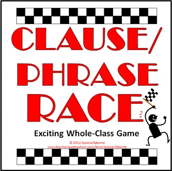 Clause and Phrase Race Game with extension ideas (FREE)
