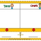 FREE Colored Place Value Mat- Tens and Ones