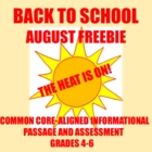 Common Core Informational Passage and Assessment: Grades 4-5