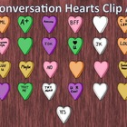 FREE Conversation Candy Hearts Clip Art for Valentines Day