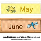 FREE Cute Months of the Year Labels