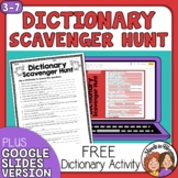 FREE Dictionary Scavenger Hunt